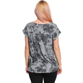 Women's Organic Cotton Tie-Dyed Loose Top (Nepal)