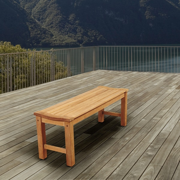 Shop Amazonia Trento Teak Backless Patio Bench Free