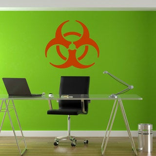 Radiation Biohazard Logo Symbol Orange Sticker Vinyl Wall Art