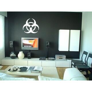 Vinyl Radiation Biohazard Logo Symbol White Sticker Wall Art