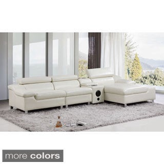 Harley 4-piece Sectional Sofa with Bluetooth and Subwoofer