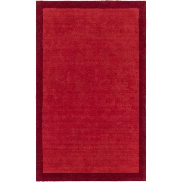 Hand-Loomed Hazel Solid Wool Area Rug (2' x 3')