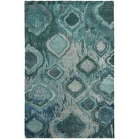 Hand-Knotted Glenn Abstract Wool Area Rug - 2' x 3'