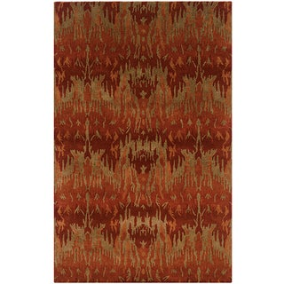 LNR Home Majestic Lr03846 Red Rug (3'6 x 5'6)