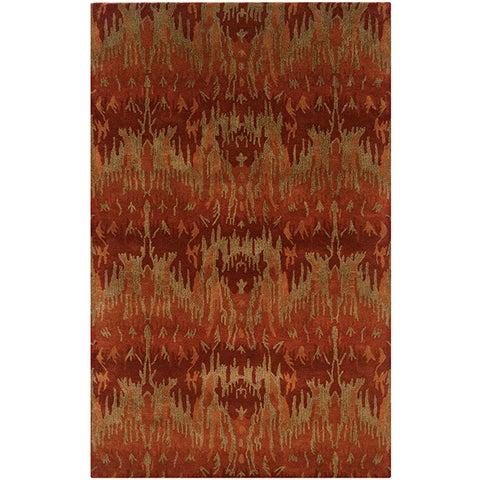 LR Home Majestic Red Indoor Area Rug ( 5' x 8' ) - 5' x 8'