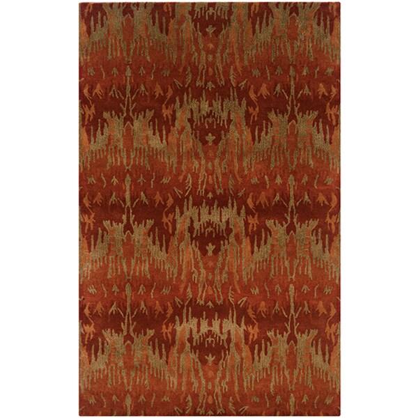 """LR Home Majestic Red Indoor Area Rug ( 5' x 8' ) - 5'3"""" x 7'9""""/Surplus"""