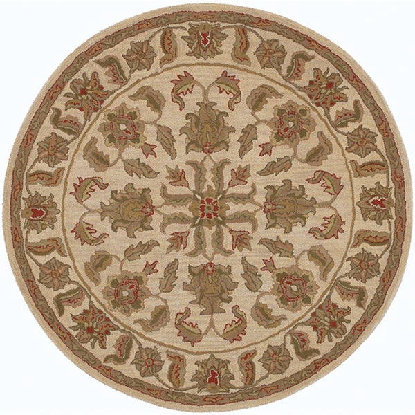 LNR Home Shapes Lr10562 Ivory Round Rug (8')