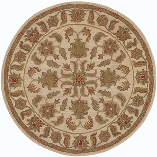 LNR Home Shapes Lr10562 Ivory Round Rug (5')