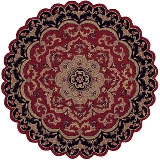 LNR Home Shapes Lr10572 Red/ Black Star Rug (5')