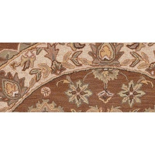 LNR Home Shapes Lr10563 Coffee/ Ivory Round Rug (5')