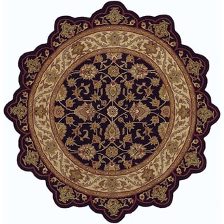 LNR Home Shapes Lr50003 Black/ Ivory Star Rug (5')