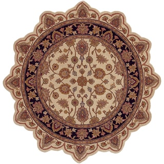 LNR Home Shapes Lr50004 Ivory/ Black Star Rug (5')