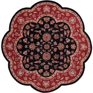 LNR Home Shapes Lr10752 Black Star Rug (5')