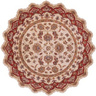 LNR Home Shapes Lr10757 Ivory/ Red Star Rug (5')