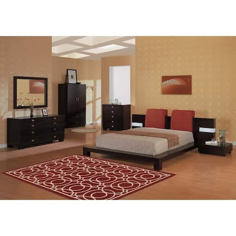 "LR Home Dazzle Red Circles Rug (5' x 7'9"") - 5' x 7'9"""