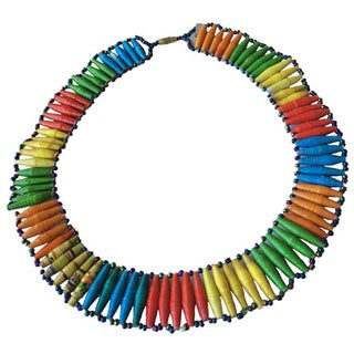 Namuwongo Recycled Paper Multi-colored 18-inch Necklace (Uganda)