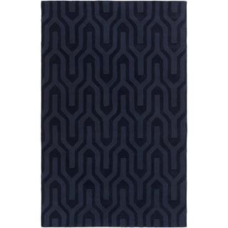 Hand-Loomed Hollie Solid Wool Rug (8' x 11')