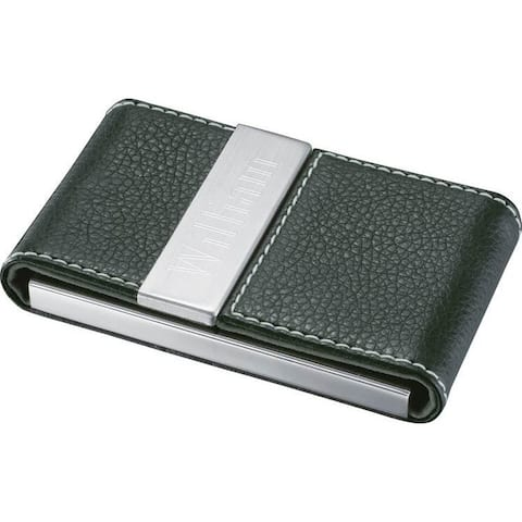 Buy metal business card holders online at overstock our best visol carlisle black leather and stainless steel business card case colourmoves