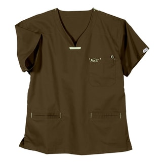 IguanaMed Women's Sienna Brown Quattro Scrubs Top