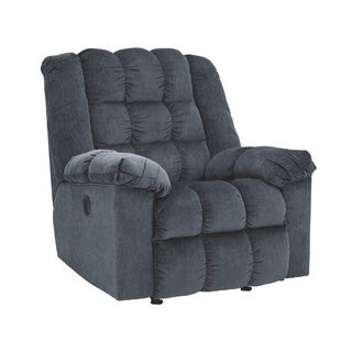 Signature Designs by Ashley Ludden Blue Power Rocker Recliner