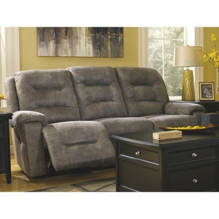 Signature Designs by Ashley Rotation Smoke Reclining Power Sofa