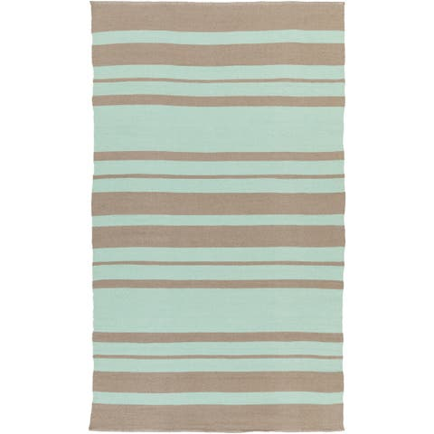 Porch & Den McFarland Hand-woven Stripe PVC Indoor/ Outdoor Area Rug