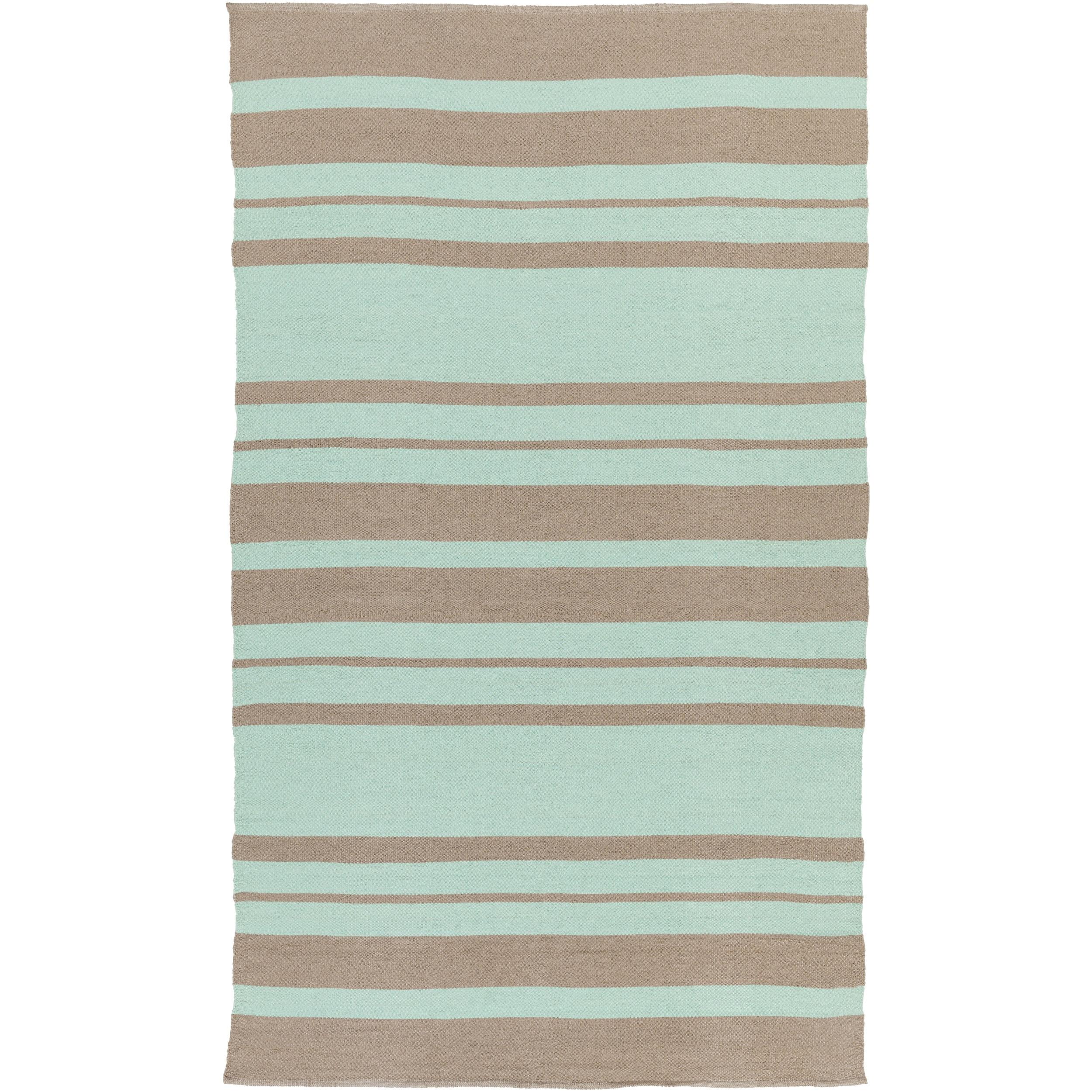 Hand-Woven Jorge Stripe PVC Area Rug (8' x 11') - 8' x 11'