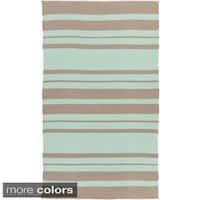 The Gray Barn Byrnes Hand-woven Stripe PVC Area Rug - 8' x 11'