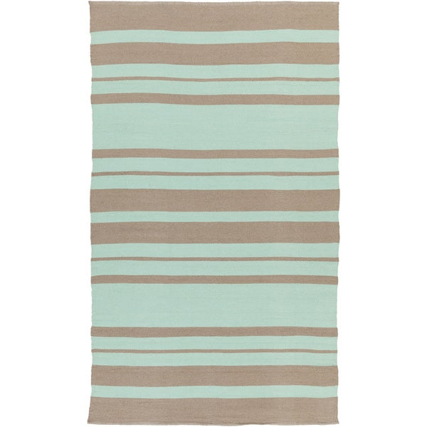 Porch & Den McFarland Hand-woven Stripe PVC Indoor/ Outdoor Area Rug