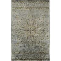 Hand-Tufted Lilburn Medallion Wool Area Rug - 8' x 11'