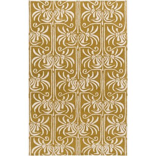 Hand-Tufted Lifeson Floral New Zealand Wool Area Rug