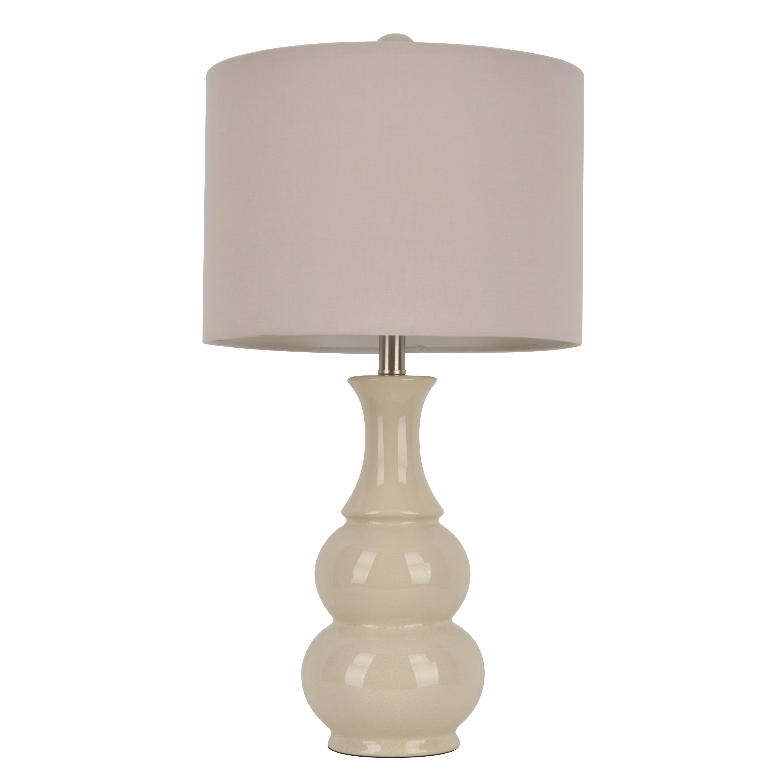 Laurel Creek Linden Ceramic Ivory Table Lamp