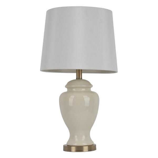 Laurel Creek Linden 24-inch Cream Ceramic Table Lamp