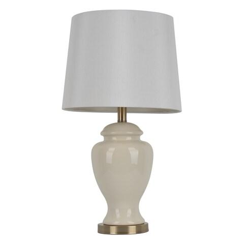Copper Grove Hersey 24-inch Cream Ceramic Table Lamp