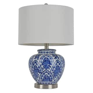 20-inch Blue and White Ceramic Table Lamp|https://ak1.ostkcdn.com/images/products/10053616/P17197470.jpg?impolicy=medium