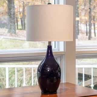 Decor Therapy Spa Blue Ceramic 27 Inch Table Lamp