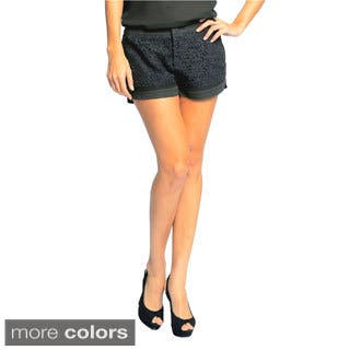 Sara Boo Women's Lace Shorts|https://ak1.ostkcdn.com/images/products/10053670/P17197520.jpg?impolicy=medium
