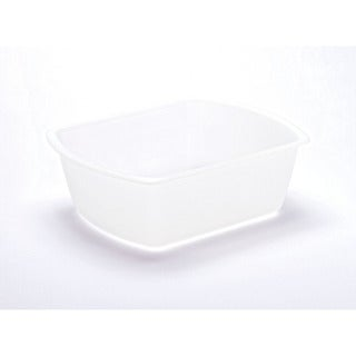Medline Clear Rectangular Plastic 8-quart Washbasin (Case of 50)