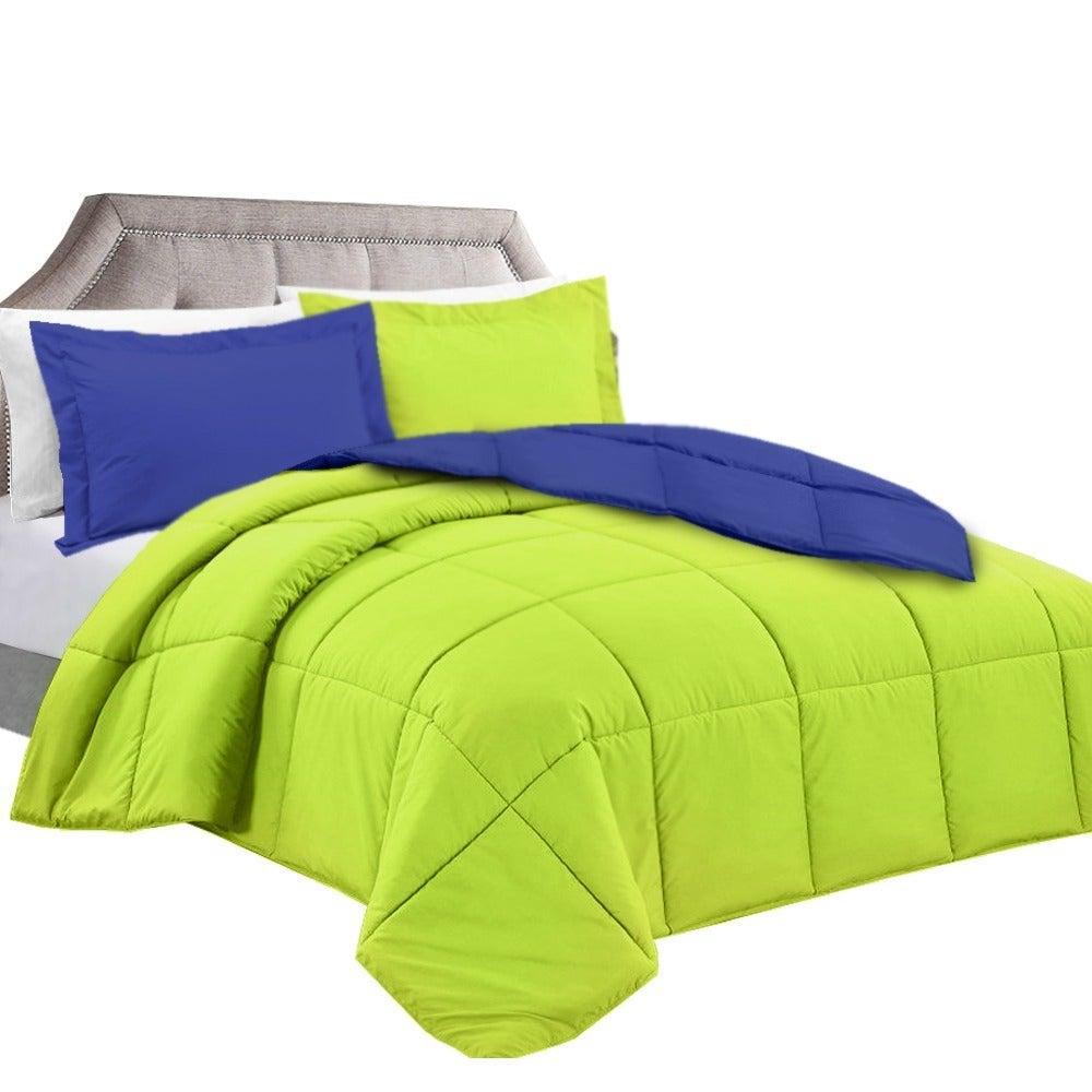 Clara Clark Down Alternative Reversible Comforter Set (Ki...