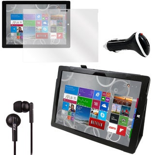 Surface Pro 3 Screen Protector/ Folio/ Charger Bundle