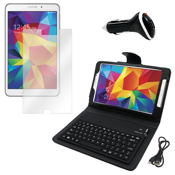 Galaxy Tab 4 T330 Screen Protector/ BT Folio and Charger