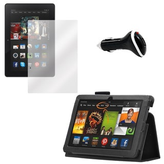 Kindle Fire HDX 3Gen Screen Protector/ Folio and Charger
