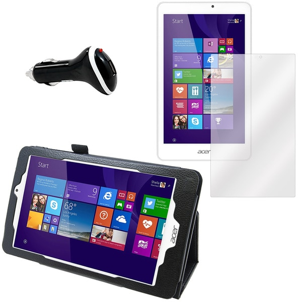 Acer Iconia Tab W1810 Screen Protector/ Folio and Charger