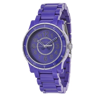 Juicy Couture Women's 'HRH' Stainless Steel and Plastic Quartz Watch