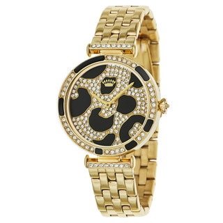 Juicy Couture Women's 'J Couture' Stainless Steel Yellow Goldplated and Crystals Quartz Watch
