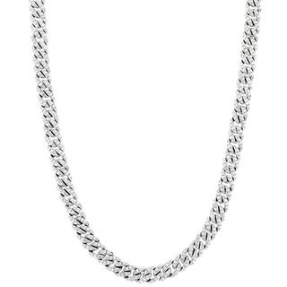 Platinum 10 1/4ct TDW Diamond Cuban Link Chain (G-H, VS1-VS2)