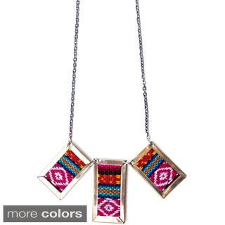 Jackson Aguayo Fabric 20-inch Necklace (Bolivia)