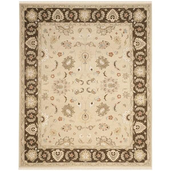 Safavieh Hand-woven Sumak Ivory/ Brown Wool Rug - 8' x 10'