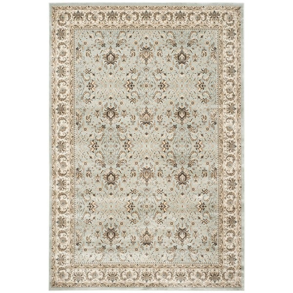 Safavieh Persian Garden Light Blue/ Ivory Viscose Rug - 8' x 11'