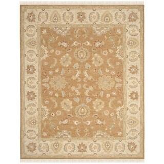Safavieh Hand-Woven Sumak Gold/ Ivory Wool Rug (10' x 14')